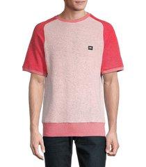prps men's textured-knit t-shirt - red - size xxl