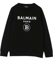 balmain black sweatshirt