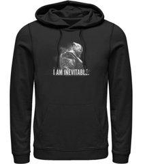 marvel men's avengers endgame inevitable thanos, pullover hoodie