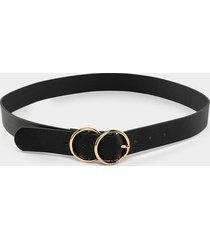 women's belicia double circle belt in black by francesca's - size: l