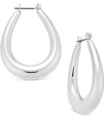 charter club oval hoop earrings