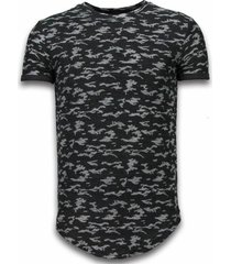 camouflage t-shirt long fit shirt army pattern