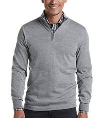 joseph abboud gray 37.5® technology 1/4 zip mock neck modern fit sweater