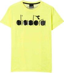 diadora fluo yellow t-shirt