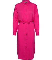 carli ls long shirt knälång klänning rosa soft rebels