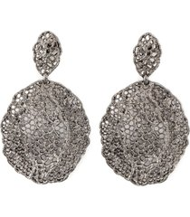 aurelie bidermann vintage lace earrings - black