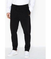 lyle & scott side panel trackpants byxor true black
