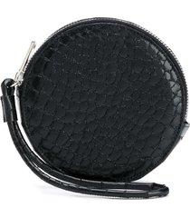 mm6 maison margiela round leather wallet - black