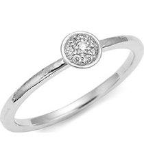 24k white gold & pavé diamond stacking ring