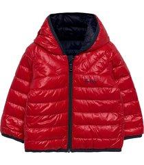 reversible puffer jacket gevoerd jack rood boss
