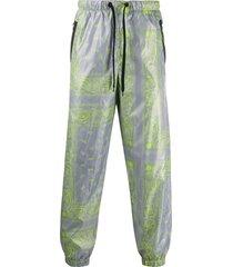 duo bandana print track pants - grey