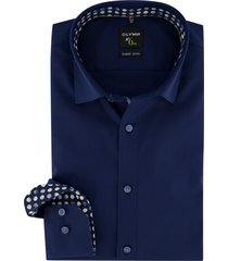 mouwlengte 7 overhemd olymp donkerblauw