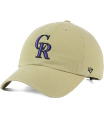 '47 brand colorado rockies khaki clean up cap