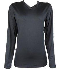camisa térmica feminina segunda pele gola v thermo premium