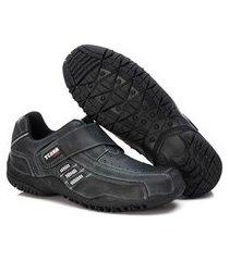 sapatênis couro tchwm shoes calce facil masculino