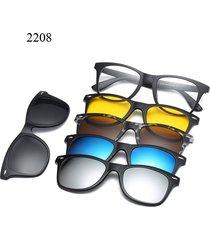 hombres y mujeres miopía gafas de marco espejo plano five-pi