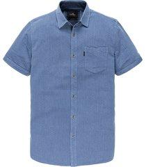 vanguard overhemd kortemouw blauw vsis202234/5036 - maat m - maat m - maat m - maat m