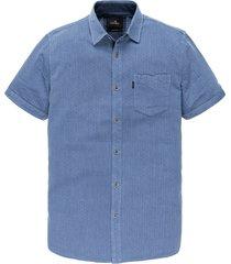 vanguard overhemd kortemouw blauw vsis202234/5036