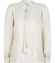 pussybow blouse cuzco  beige