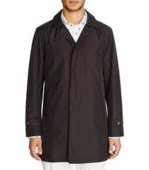 tallia men's slim fit leopard packable trench coat