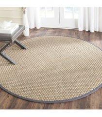 safavieh natural fiber natural and dark gray 8' x 8' sisal weave round area rug