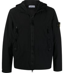 stone island skin touch jacket - black