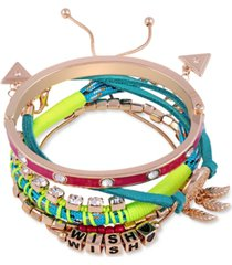 guess gold-tone 5-pc. set mixed bracelets