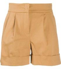 alberta ferretti pleated waist shorts - neutrals