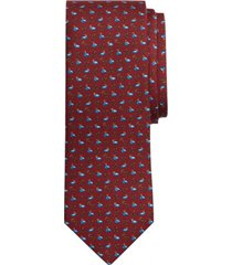 corbata duck print burdeo brooks brothers