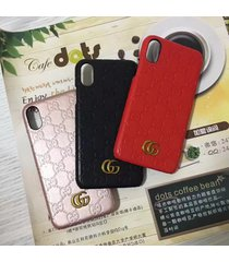 fashion style 2017 leather monogram gu case cover for apple iphonex iphone x
