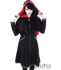 restyle bat gothic goth punk emo rocker detachable wings winter coat jacket