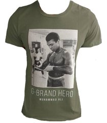 g-brand stretch t-shirt met strass army