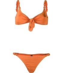 reina olga luca scrunchie strap bikini - orange