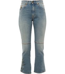 embroidered slim fit jeans