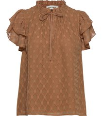 blouse blouses short-sleeved brun sofie schnoor