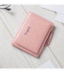 portafoglio donna con portamonete in pelle color caramello