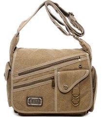 crossbody multi-tasca borsa per uomo