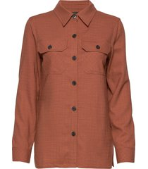 6253 - jen overhemd met lange mouwen oranje sand