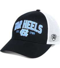 top of the world north carolina tar heels black mesh teamwork snapback cap