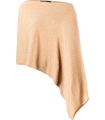 steffen schraut asymmetric draped cape - neutrals