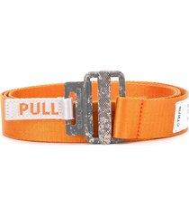 heron preston pull tab belt - orange