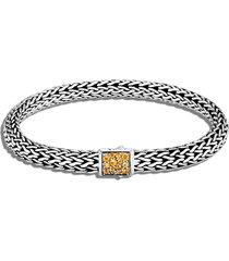 classic chain' birthstone citrine sapphire sterling silver bracelet - november