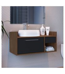 balcão banheiro criando mobilia gb06 gabinete suspenso 1 porta 1 gaveta