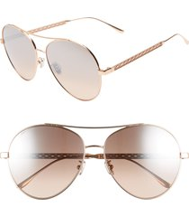 women's jimmy choo noria 61mm special fit gradient aviator sunglasses - copper gold