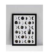 amaro feminino quadro lunas 32 cm x 42 cm, preto