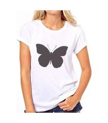 camiseta coolest borboleta feminina