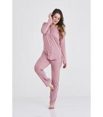 pijama ros㪠amanda clo㡠- ros㪠- feminino - dafiti