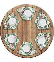 jogo americano love decor para mesa redonda wevans spray kit com 6 peças