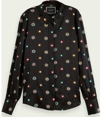 scotch & soda regular fit blouse met sterrenprint