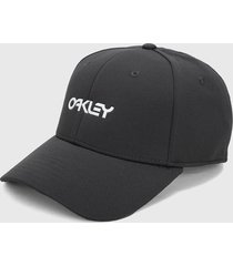 gorra gris oakley 6 panel stretch metallic